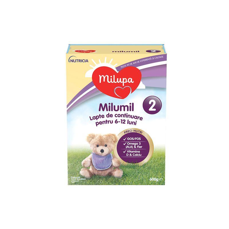 Lapte praf de continuare 6 luni + Milumil 2 | 600 g