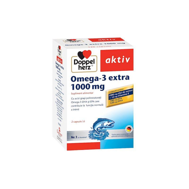 Doppelherz Activ Omega 3 extract cu ulei somon 1000mg   120 capsule