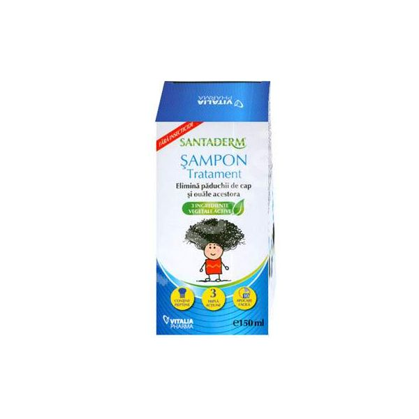 Santaderm sampon tratament paduchi 150ml