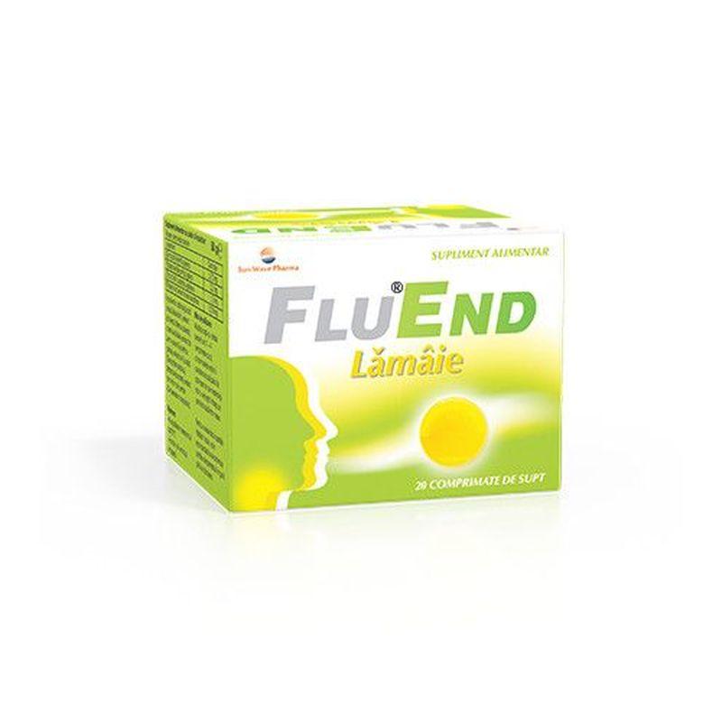 FluEnd cu aroma de lamaie | 20 comprimate