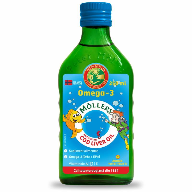 Moller's cod liver oil omega 3 tutti frutti