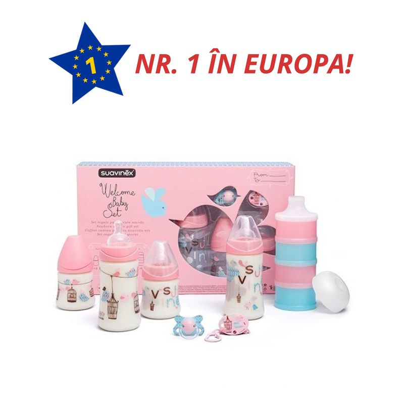 SET NOU NASCUT ROZ WELCOME BABY SUAVINEX 017959 3800406
