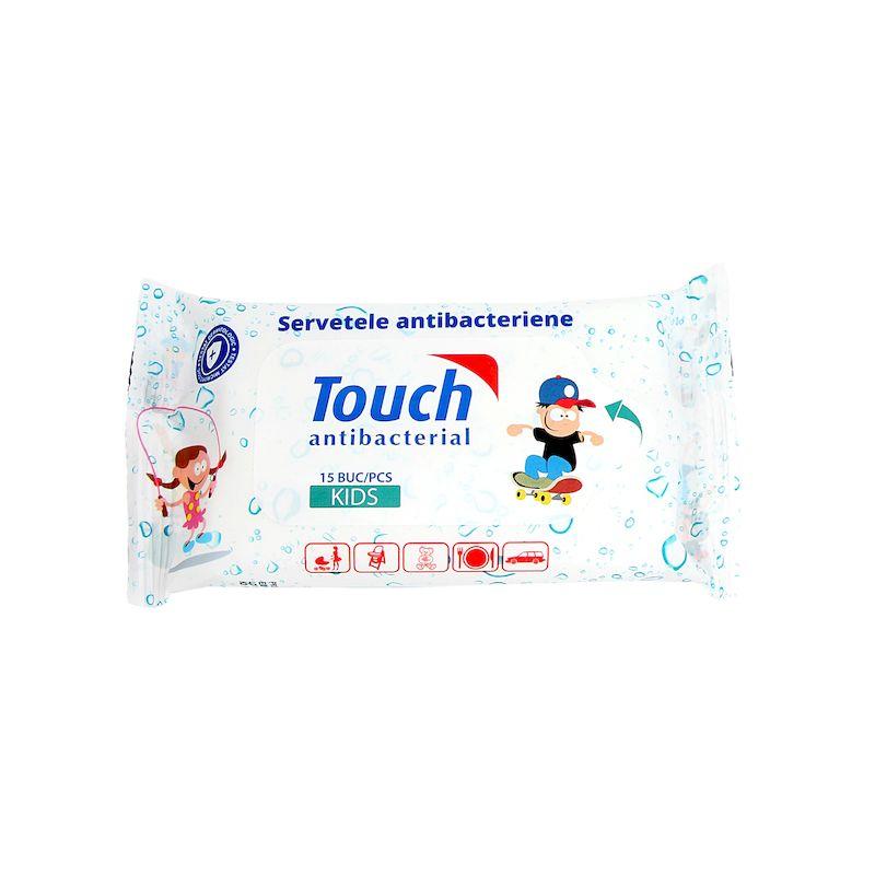 Touch servetele umede antibacteriene pentru copii   15 buc