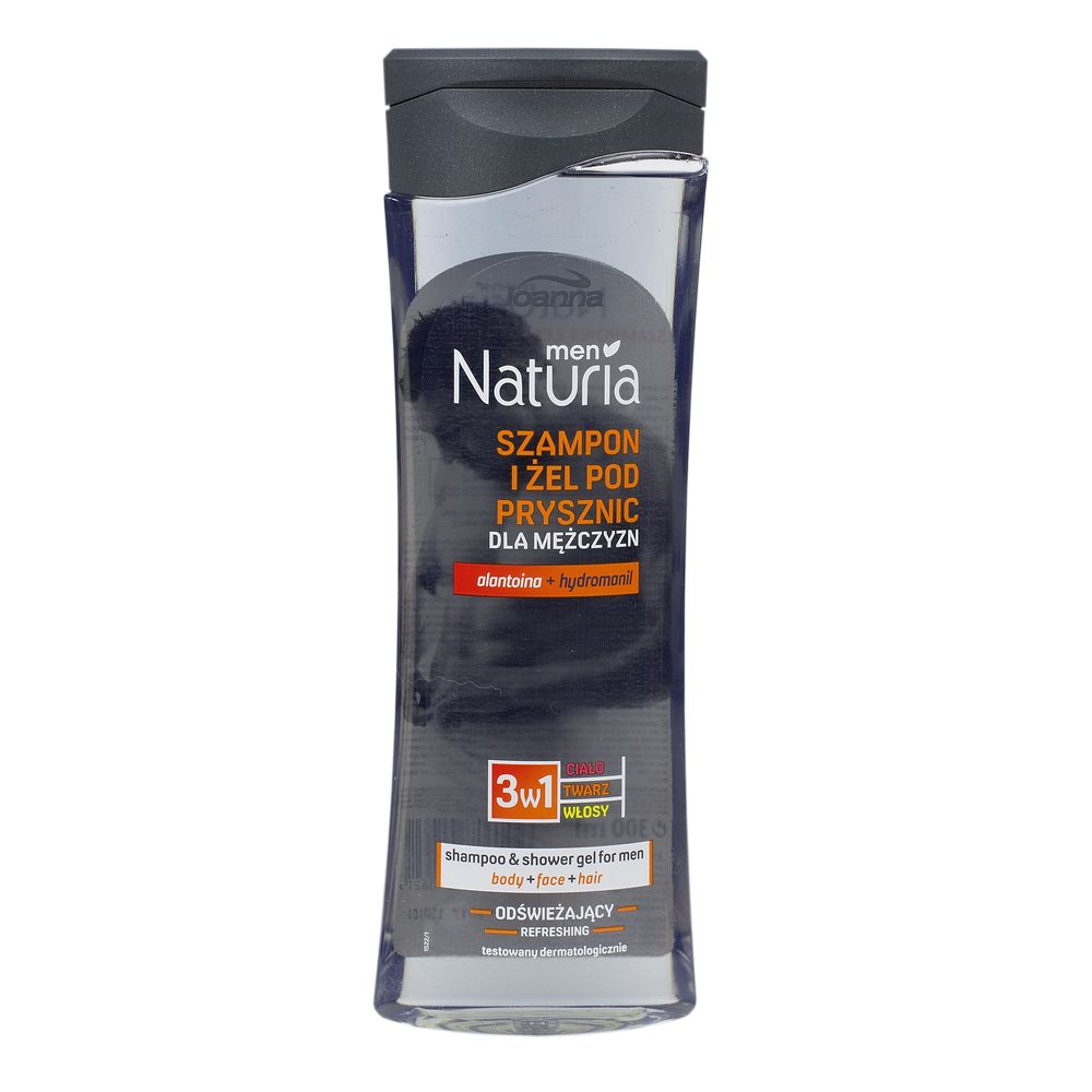 "SAMPON & GEL DUS BARBATI ""NATURIA"" 300 ML"