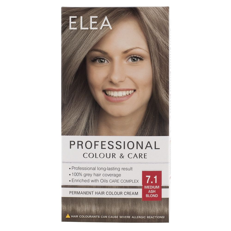 Medimfarm Elea Professional Vopsea De Par 71 Blond Cenusiu Mediu