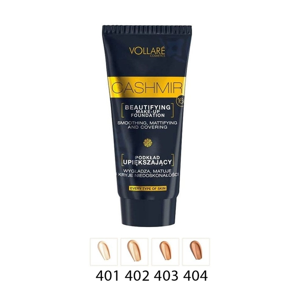 INGRID VOLLARE FOND TEN CASHMIR BEAUTIFYNG 404 WARM GOLDEN 30ML