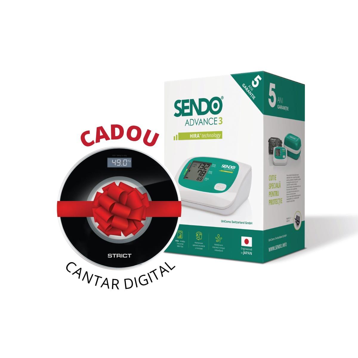 Tensiometru de brat Sendo Advance 3 cu cantar electronic corporal CADOU